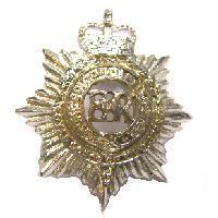 Pair of Royal Corps of Transport collar badge