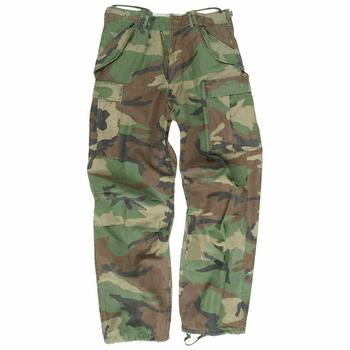 US M65 Heavyweight Woodland DPM Combat Trousers, Used - Not Ripstop