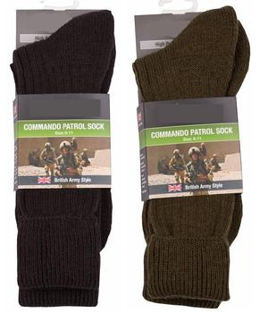 Socks Combat Army Commando Style Patrol Socks with Double Knitted sole