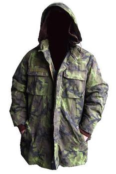 Genuine Croation Cold Weather Fluffy Lined Camo Parker With Hood