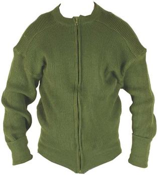 Military Cardigan Danish Military Issue Green Zip front Cardy
