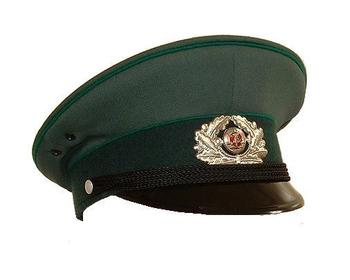 As New East German DDR Green Dress Cap Visor hat with Badge