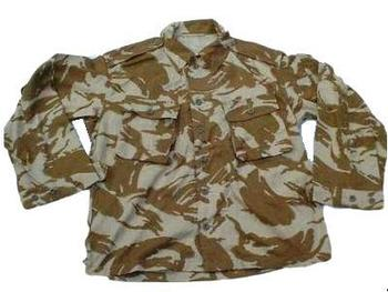 Vintage Desert Shirt 1980's Pattern Genuine British Army Issue Desert Camo Shirt, New