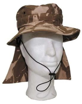 Desert Boonie Hat New British Army Issue Combat Hat with Removable flap Or Just Velcro