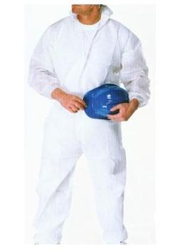 Disposable Lightweight White Boiler Suit Coverall