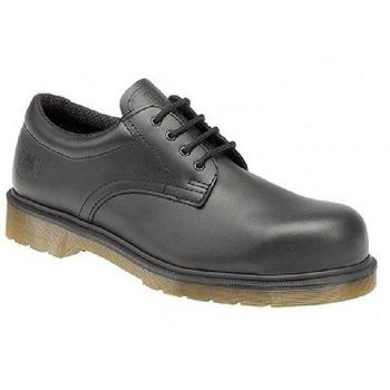 Dr Martens Airwair Industrial Black Leather Safety Toe Shoe (DM776A)