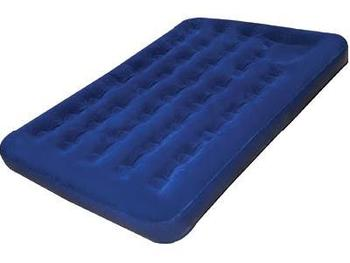 Double Airbed Highlander Sleepeze Double Size Navy Blue Flocked Air Bed (AIR024)