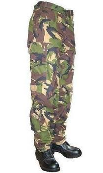 Used Dutch Army Issue Heavy Weight Camo 6 Pocket Combat Trousers, Graded