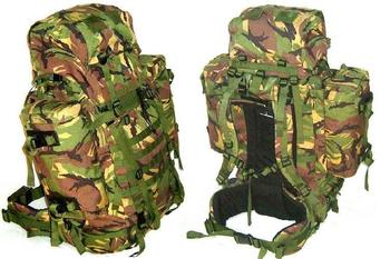 Dutch Military Issue Large 110 Litre DPM Molle Rucksack, Bergen  Saracen Used