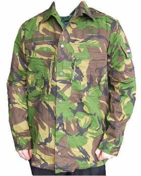 Heavy weight Dutch Woodland Camo Shirt with zip pockets - Grade 1
