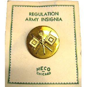 US Army Signal Corps Enlisted collar disk
