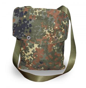 Small German Flecktarn Cotton / Canvas Shoulder Bag with strap Military Issue