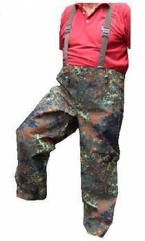 Flecktarn Goretex Unlined Bib and Brace Trousers, Excellent Graded stock
