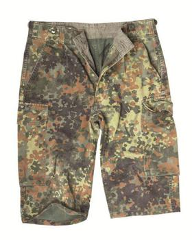Flecktarn Shorts German Military Camo Combat Shorts Used Grade