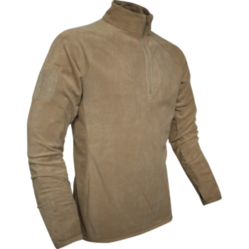 Fleece Viper PCS Military Style Tan Coyote  Mid Layer Under Fleece with Zip top neck, New
