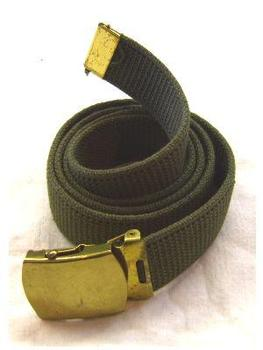 New Olive green French 1.5 inch webbing belt