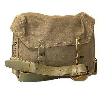 Canvas Satchel Used Grade 1 Tough French Canvas Satchel with Leather Carry strap