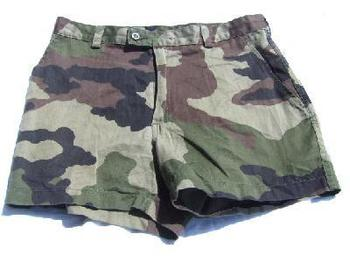 Genuine French Military Issue Used Camo shorts
