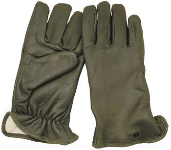 Green Leather Gloves Military Army Issue Supple Leather Lined Glove New