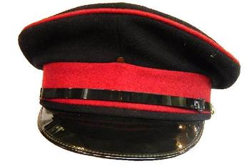 Officers Peak Dress Cap With Maroon Band