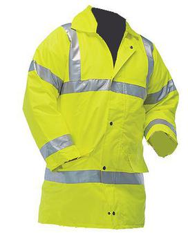Hi Viz High Visibility Waterproof Jacket with Reflective strips - PP011