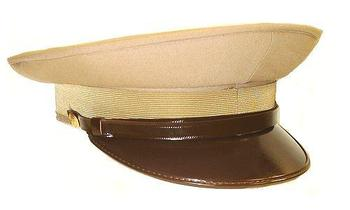 Visor Cap New Light Brown Military Issue Officers Style Peaked Visor Cap 36a8155aaf9