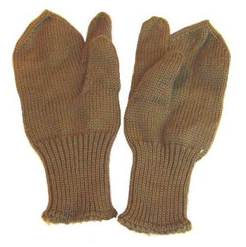 WW2 style 3 finger khaki shooters mitts