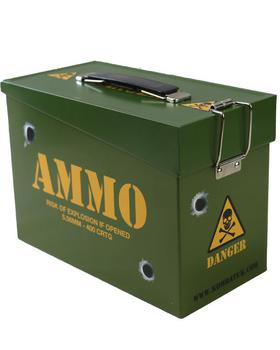 Kids Army Style Ammo Tin Box, Ammo tin great for Sandwiches !