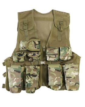 MTP MultiCam BTP Assault Vest - Kids Tactical Multi Cam Style Vest