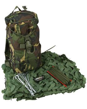 Kids Army Den Set Camouflage Woodland Camo Bag, Camo Net Hide Set