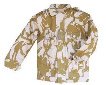 Kids British Desert Camo Lined Combat Jacket