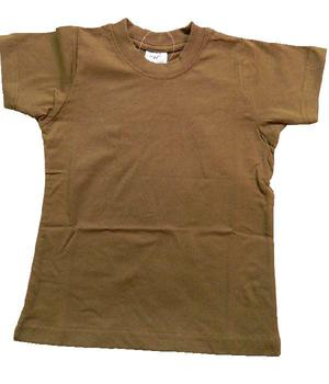 Childrens T Shirt Sand / Tan / coyote kids cotton t shirt, New