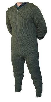 Knitted Inner,  All in one Olive green Knitted Army Issue Suit