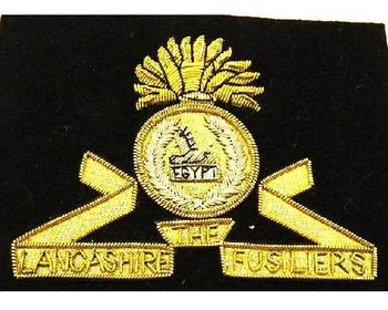 Blazer badge of the Lancashire Fusiliers