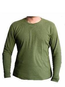 Olive Green Long Sleeved Army Issue Thermal Vest Top ~ New