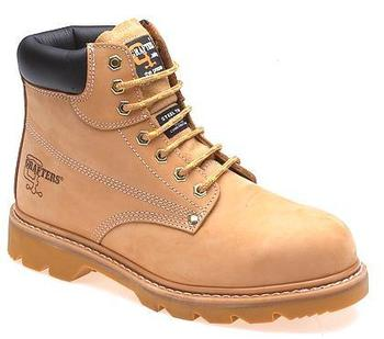 Strong Internal Steel Toe Cap Boot - Honey Colour Stiched Sole Boot Size 3 to 15 (M124N)