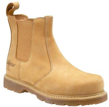Goodyear Welted Honey Nubuck Safety Dealer Boots Sizes 3 to 14 Available (M539N)