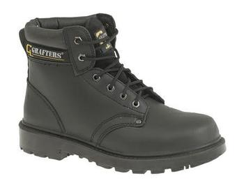 Grafters Apprentice 6 Eyelet Internal Safety Toe cap Boots - Upto Size 16 (M629A)