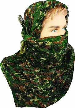 Camo Face Veil Scarf Deluxe Large Size Camuaflage Face Scrim Netting, New