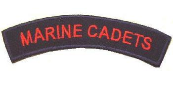 Marine Cadets- Cloth shoulder title