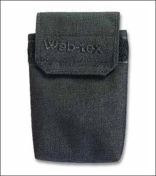 Black Document Pouch, Web Tex Large Black Document Pouch with Belt Loop Fitting
