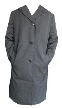 Ladies Black Messengers Raincoat / trenchcoat