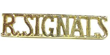 Staybright Royal Signals Shoulder title