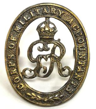 Corps of military accountants cap badge