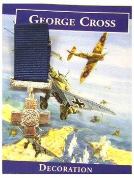 Mini George Cross Medal with information card