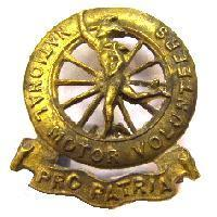 National Motor Volunteers cap badge