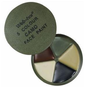MTP Face Paint New 5 colour MTP Camo face Cream with mirror