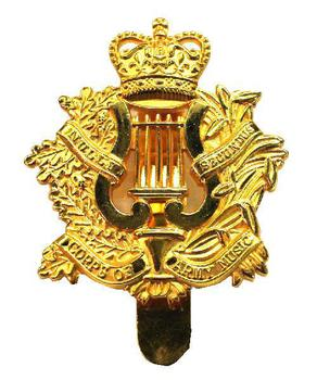 Corps of army music cap badge
