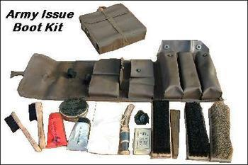 Military Issue Boot and Repair Kit In Its own Case, Used