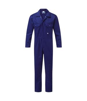 Boilersuit Coverall Navy Blue Poly / Cotton Presstud Front Overall Boiler Suit